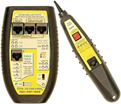 The Triplett Byte Brothers TVR10/100/1000 has been designed to test LAN devices and cabling to the 10, 100 and 1000 Base-T standard. The Main unit performs the bulk of the tests such as determining the LAN device type (is it a hub/switch or P...