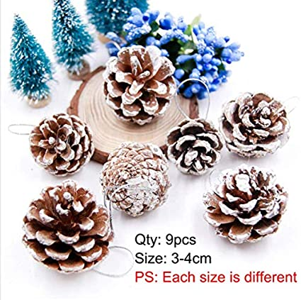 Pine Cone Christmas Ornaments To Make.Amazon Com 9pcs Lot Colorful Multi Pine Cone Christmas