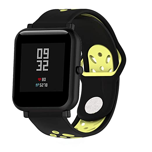para Huami Amazfit Bip Watch Premium Silicona Banda Bracelete Pulsera Banda de Reloj de Silicona Suave de Doble Color: Amazon.es: Relojes