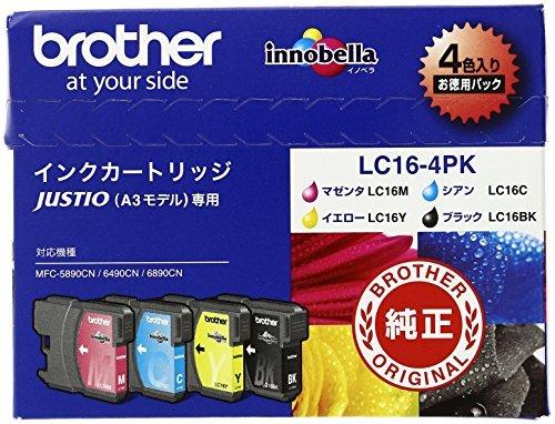 (まとめ買い) ブラザー インクジェットカートリッジ LC16-4PK 【×3】 B01JHSO54M
