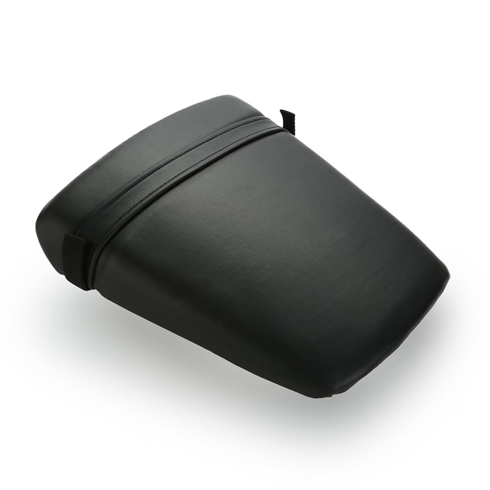 ECLEAR Leather Passenger Back Rear Seat Pillion Cushion For Yamaha YZF R6 2003-2005, Black