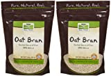 NOW Foods Natural Oat Bran - 14 oz - 2 pk