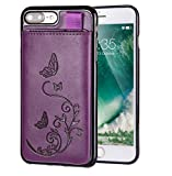 iPhone 8 Plus/iPhone 7 Plus Wallet Leather Case for