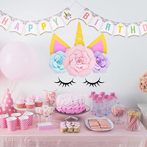 Jetec Unicorn Birthday Party Decorations Set Happy Rainbow Bunting Banner And DIY