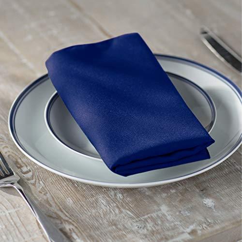 LA Linen 10-Pack Polyester Poplin Napkins, 18 by 18-Inch, Royal Blue ()