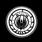 "Battlestar Galactica Inspired Badge 6"" Vinyl Sticker Car Decal (6"" WHITE)"