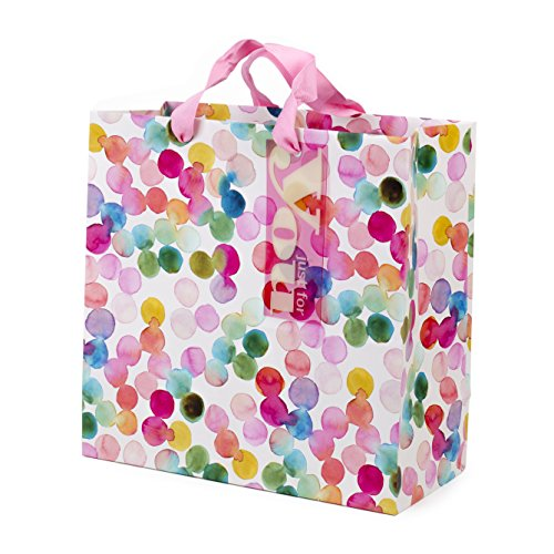 - Hallmark Large Square Gift Bag (Watercolor Dots)