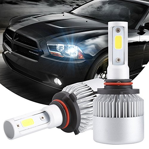 Isincer 9005 LED Headlight Bulb All-in-One Conversion Kit COB Chips Cool White 6500K LED Headlamps 160W 16000LM Extremely Bright