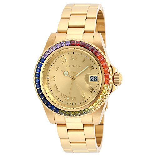 Invicta Angel Gold Dial Gold-plated Ladies Watch 20022