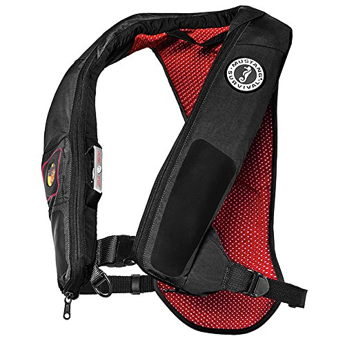 (Mustang Survival Corp Elite 38 Automatic Inflatable PFD, Gray/Red)
