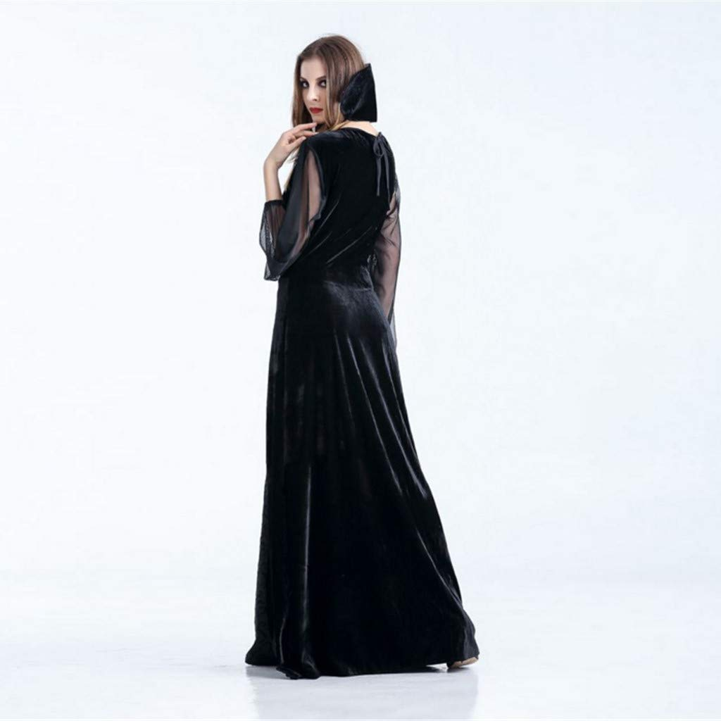 Excursion Clothing Women Vintage Role Play Long Dress, Halloween Clothes Dress up Vampire Witch Vintage Gothic Masquerade Costume Cosplay Party Evening Dress by Excursion Clothing