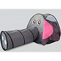 Allkindathings Elephant Play Tents Pipeline Crawling Tunnel Toy Pop Up House for Children Outdoor Fun