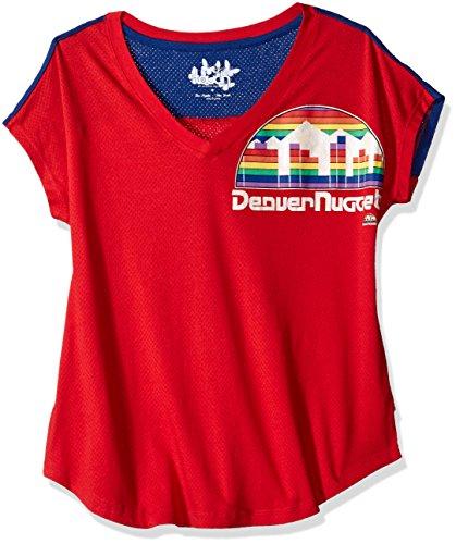 NBA Denver Nuggets Women's First Down Tee, Small/Medium, Red