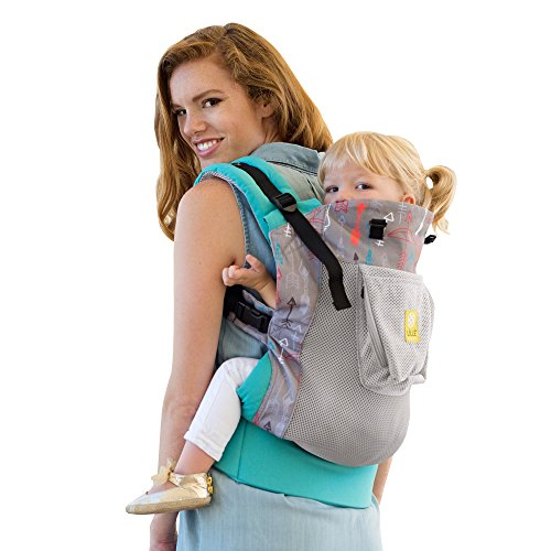 Big Save! LILLEbaby 3 in 1 CarryOn Toddler Carrier - Air - Turquoise w/ Silver Arrow