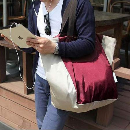 Lightweight Foldable Beach Tote Bag Travel Toy Bag Large Grocery & Picnic Reusable Shopping Shoulder Handbag by Chihom (Image #8)