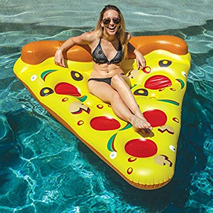 Hinchable Colchonetas Pizza Inflable Rebanada Gigante Piscina Piscina Tenedor Del Juguete De Agua Pizza Gigante Amarillo Flotante Cama Balsa Natación Anillo Colchón De Aire Barco: Amazon.es: Bricolaje y herramientas