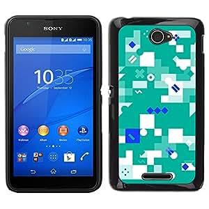 Caucho caso de Shell duro de la cubierta de accesorios de protección BY RAYDREAMMM - Sony Xperia E4 - Resumen Verde