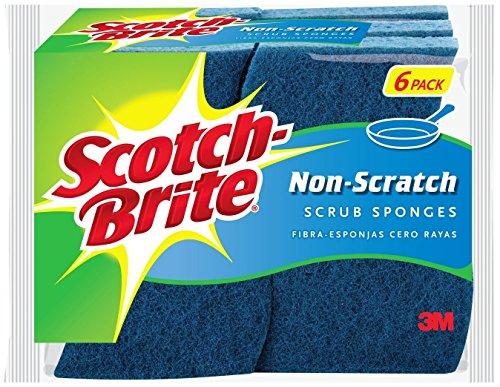 Scotch-Brite 6 Piece Multi Purpose Scrub Sponge Pack ( Pack of 1 ) (Scrub Wave Sponge)