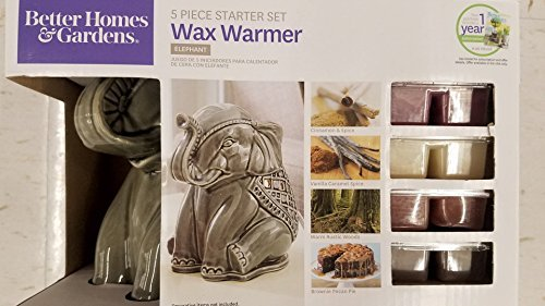 Better Homes and Gardens Full Size Wax Warmer Elephant Starter Set, Includes 1 Year Subscription to Better Homes and Gardens Magazine