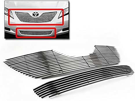 APS Compatible with 2007-2009 Toyota Camry Bumper Black Stainless Steel Mesh Grille Grill Insert S18-H51257T