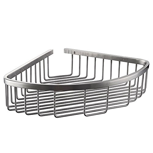 Kes Bathroom Corner Triangular Tub and Shower Caddy Basket SUS304 Stainless Steel Wall Mount, Brushed Finish, A2123A-2