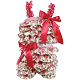 Stephan Baby Ruffled Flapper Top and Diaper Cover, Pink...