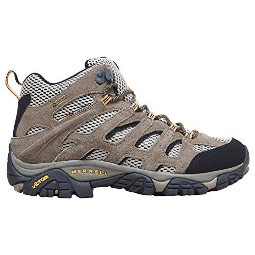 Merrell Men's Moab Mid Gore-Tex Dark Tan Hiking Boot - 43