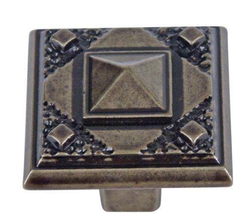Atlas Homewares Craftsman Knob - Atlas Homewares 257-BB 1-1/2-Inch Craftsman Corner California Craftsman Knob, Burnished Bronze
