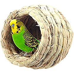 DGAIER Pet Bird Bird House Bird Nest Parakeet Budgie Cockatiel Finch Sparrows Breeding Nesting Bird Aviary Cage Box Anti-Pecking Bite