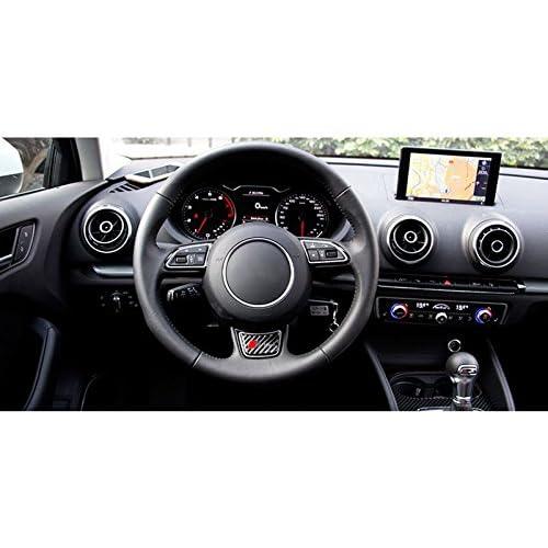 Carbon Fiber AUTO-P for Audi A4 B6 B8 B7 B5 A3 8P 8L 8V A6 C5 C7 A5 Q3 A1 S3 S4 S line Quattro RS7 Car Steering Wheel Decoration Sticker