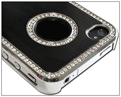 BONAMART ® Luxury Unique Best Luxury Bling Czech Rhinestone Case Cover For Apple iPhone 4 4G 4S AT&T and Verizon (Sonic Iphone 4s Case)