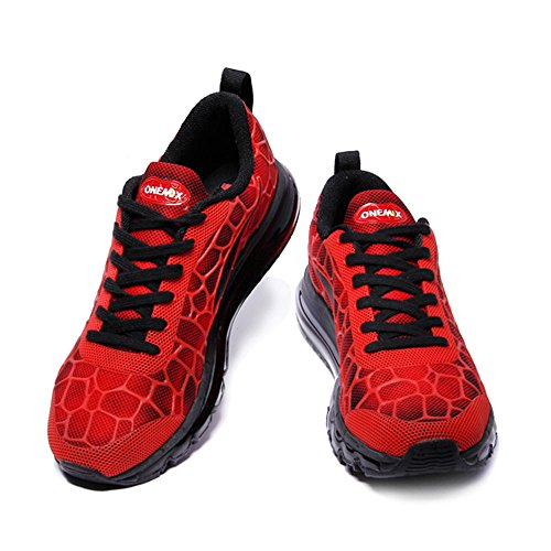 Womens Shoes Sneakers Adult Sports Walking Trainers Red Black Unisex Air Mens Onemix Breathable 5vwUUpq