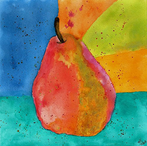 (Colorful Pear All-Occasion Note Cards and Greeting Cards - 12-Pack with Envelopes)