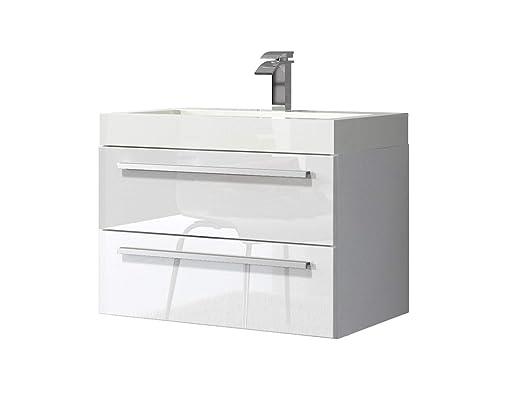 Badezimmer Badmobel Marseille 60 Cm Hochglanz Weiss Unterschrank