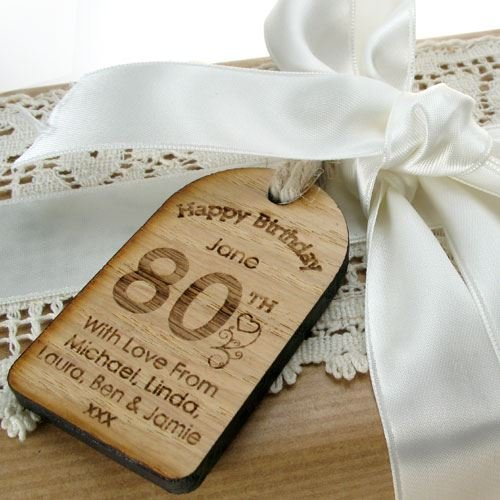 80th Birthday Gifts For Men Unusual Gift Personalised Labels Engraved