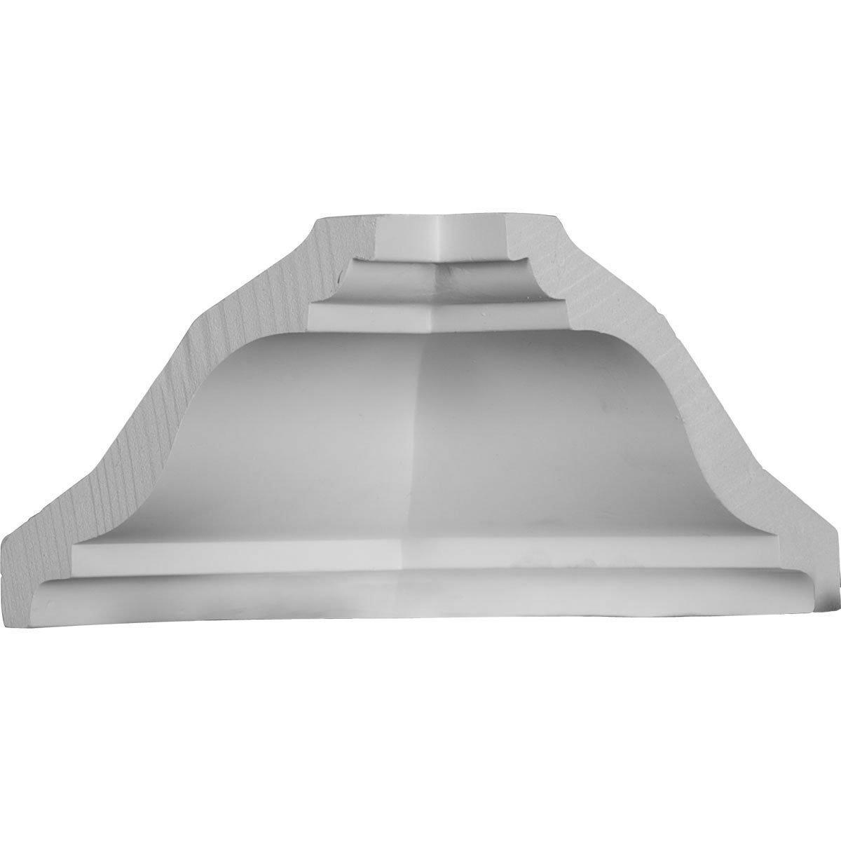 Ekena Millwork MIC04X04SG-CASE-4 4-3/8'' P x 4-7/8'' H Inside Corner for Molding MLD04X04X06SG (4-Pack)