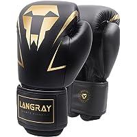 LangRay Bokshandschoene, MMA Handschoenen Pu Sparring Handschoenen Sparren en Boksen met Optimale Schokdemping…