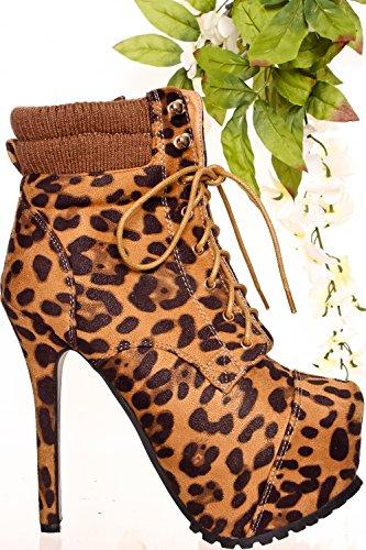 Lolli Couture Jp Opprinnelige Semsket Materiale Borrelås Gull Aksent Tilfeldig Kile Joggesko Leopard-britney-18
