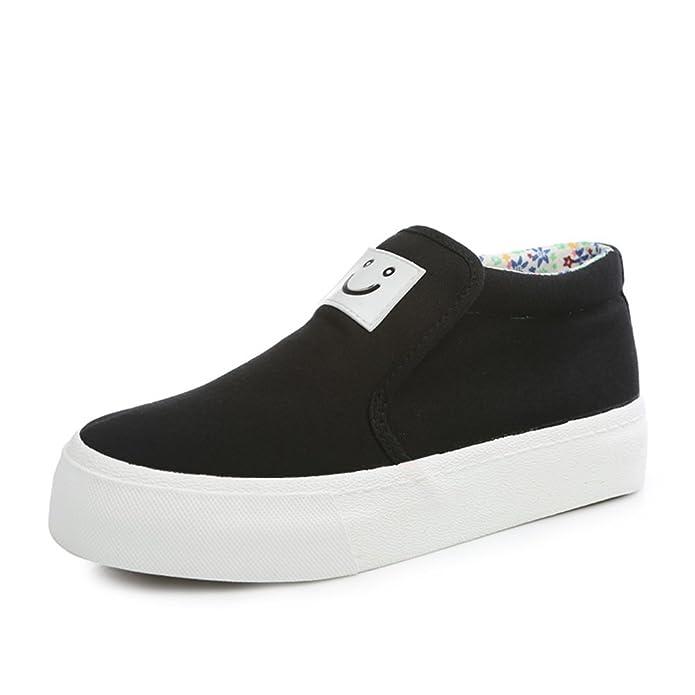 Sonrisa sólido pedal perezoso Lok Fu zapatos de verano/Zapatos de lona moda casual clásico-B Longitud del pie=24.3CM(9.6Inch) tLU4W