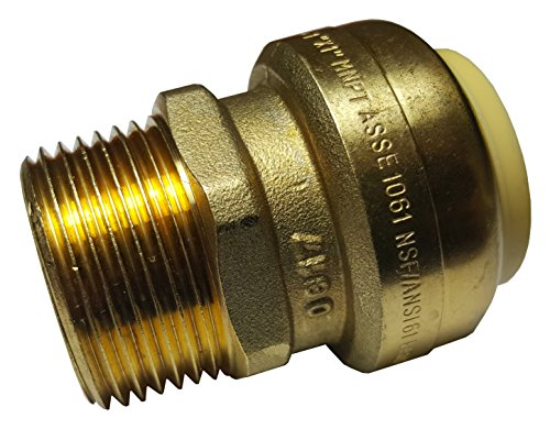 """1 PIECE XFITTING 1"""" PUSH FIT X 1"""" MALE NPT/MNPT ADAPTER, CERTIFIED TO NSF ANSI61 - LEAD FREE BRASS, PLUMBING FITTING FOR COPPER, PEX, CPVC"""