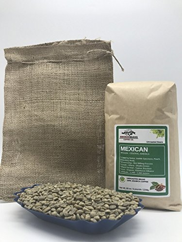 Green Beans Spices - 5 pounds| Mexican| Farm: Finca Nextlalpa| Grade-Altura| Spice,Chocolate,BrownSugar,Nuts/Apple| Specialty-Grade Green Unroasted Whole Coffee Beans| for Home Coffee Roasters|by Smokin' Beans Coffee Co