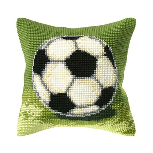 Orchidea Soccer Ball Pillow Cover Needlepoint Kit by Orchidea