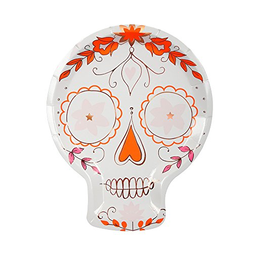 Meri Meri Sugar Skull Plates -