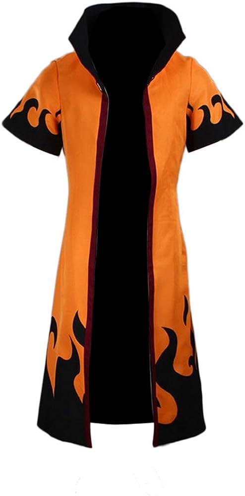 Naruto Shippuden 6th Leaf Village Hokage Uzumaki Costume Cosplay Robe Cloak Cape