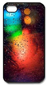 iphone 4S fun cases patterns abstract colors parallax 12 PC Black for Apple iPhone 4/4S