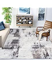 """Nordic Grey 5.25 ft. x 7.55 ft. Abstract Shag Area Rug, Vintage 5'3"""" x 7'0"""" Bohemian Style Area Rug, Carpet for Bedroom Living Room Floor Large(Grey, 160 x 230cm/5.25ft. x 7.55ft)"""