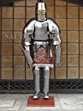 NauticalMart LARP Crusader Style Armor Adult Knight Suit Of Armor
