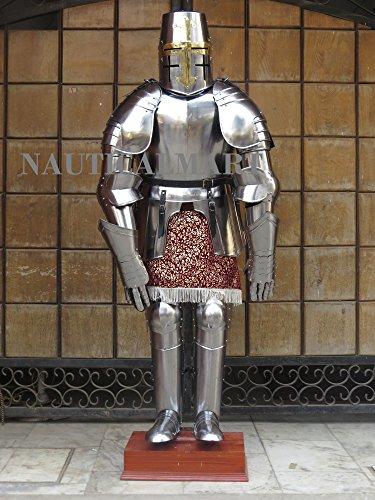 NauticalMart LARP Crusader Style Armor Adult Knight Suit Of Armor by NAUTICALMART
