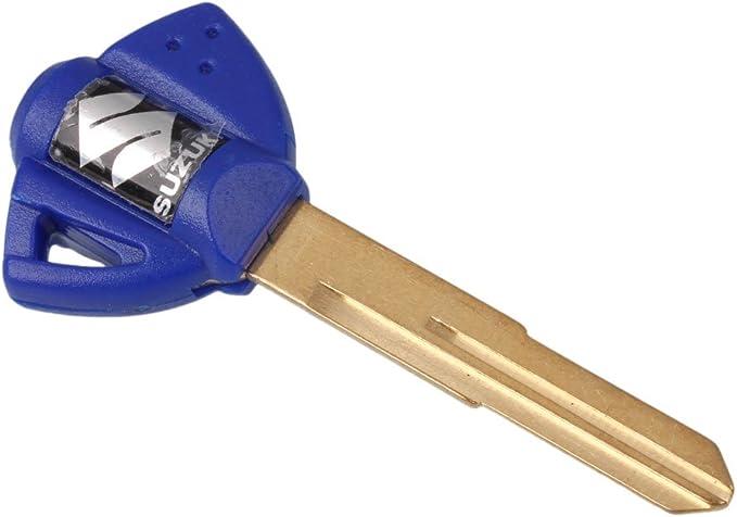 3 PCS Blue Blank Key Uncut For Suzuki GSXR GSX-R 600 750 1000 Motorcycle