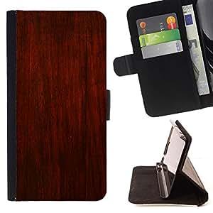 BullDog Case - FOR/Sony Xperia Z3 D6603 / - / rustic brown red design wall interior /- Monedero de cuero de la PU Llevar cubierta de la caja con el ID Credit Card Slots Flip funda de cuer